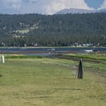 View of the disc golf course at Captain John's Fawn Harbor and Marina.- 3-day Itinerary for Big Bear Lake, California