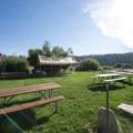 Ad hoc picnic area at Captain John's Fawn Harbor and Marina.- 3-day Itinerary for Big Bear Lake, California