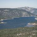 Big Bear Lake from the summit of Bertha Peak.- 12 Great Summit Hikes Near Los Angeles