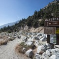 The trailhead for Big Falls along Mill Creek.- Best Day Hikes Near Palm Springs