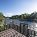 Fishing pier at South Platte Park on the South Platte River.- Denver's Best Parks