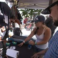 Our friends at Mountainsmith enlist members at the Mile High Summer Shindig.- Outdoor Project's Bend Block Party 2017