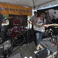 Confluence entertains the crowd with their artistic arrangements.- Outdoor Project's Mile High Summer Shindig Denver Block Party