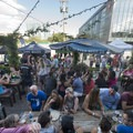 The Denver Beer Co. patio for the Mile High Summer Shindig.- Outdoor Project's Mile High Summer Shindig Denver Block Party