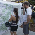 A 6-foot by 5-foot map of Colorado to start the planning process.- Outdoor Project's Bend Block Party 2017