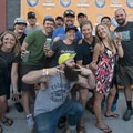 The vendor team gather after the event.- Outdoor Project's 2017 Block Party Series
