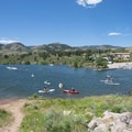 Paddling in Satanka Bay at Horsetooth Reservoir County Park.- Gorgeous Colorado Lakes for Summer Adventure