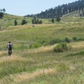 Mountain biker riding the trails at Lory State Park in Colorado.- State and County Parks and Forests