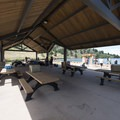 Picnic shelter at South Bay Day Use Area, Horsetooth Reservoir County Park.- Horsetooth Reservoir County Park