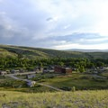 An overlook of Bannack from the cemetery hill.- The Uninhabited West: Ghost Towns and Mines