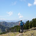 360-degree views of mountain peaks from Mount Blackmore.- 14 Hikes in Greater Yellowstone
