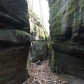 Large boulders in Ohio create the semblance of a slot canyon.- Intro to Canyoneering: Tips + Gear