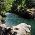 Emerald pools below the Snyder Bridge.- Oregon's 30 Best Swimming Holes