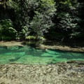 An emerald pool upstream from Salmon Creek Falls.- Sex, Drugs, and Swimming Holes