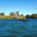 Floaters enjoying a lazy stretch of blue-green water.- 13 Epic Microadventures Near Boise