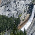 Nevada Falls during spring runoff.- 10 Fitting Places to Celebrate Ansel Adams