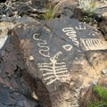 One of the many petroglyph panels found in the main gallery area along Trail 100 in Petroglyph Canyon.- 8 Must-do Mojave Desert Adventures