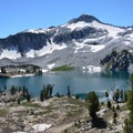 Eagle Cap and Glacier Lake.- Amazing Alpine Lakes