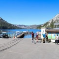 The boat dock at Echo Chalet mark the beginning of the trail along Echo Lakes.- 3-Day Fall Itinerary for South Lake Tahoe