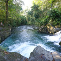 A few swimmers near the jumps along Rio Fortuna at El Salto.- 4 Tips To Take Your Costa Rica Adventures to the Next Level
