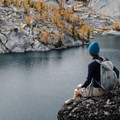 A moment to take it all in above Lake Viviane.- 5 Amazing Hikes in the Alpine Lakes Wilderness