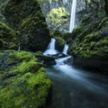 McCord Creek below Elowah Falls during the winter months.- Waterfall Hikes in the Columbia River Gorge