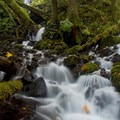 Below Fairy Falls.- Wahkeena Falls/Multnomah Falls Loop Hike
