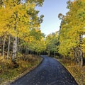 One of the private side roads along Weber Canyon in Utah.- The Best Leaf-Peeping Adventures for Fall Foliage