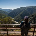 The view downstream from Feather Falls.- California's 60 Best Day Hikes