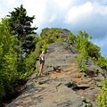 The scramble to the top at Chimney Tops.- 16 Must-do Hikes in Great Smoky Mountain National Park