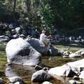 Fishing at Johnny Creek Campground.- Great Camping Near the Enchantments