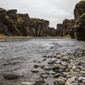 Walk down to the base of the canyon.- Guide to Iceland's Ring Road