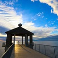 A pier stands above Lake Pontchatrain at the park's southern edge.- Louisiana's Cypress and Sea