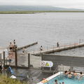 Jump off the docks into Lake Laugarvatn.- Must-Visit Hot Springs in Iceland