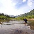 Creek crossing in Maroon Bells. - Summer Road Trip Destinations in Idaho, Colorado, and Utah