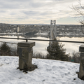 Franny Reese: Scenic overlook to the Mid-Hudson Bridge.- Hudson Valley's 8 Best Snowshoe Adventures