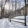 Franny Reese: Approaching old building ruins.- Hudson Valley's 8 Best Snowshoe Adventures