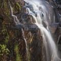 Waterfall at Frye Mesa Reservoir.- Arizona Swimming Holes