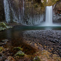 Oregon's Abiqua Falls in winter.- Chill Out With Some Frozen Water
