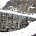 Icicles on the side of the Rustic Stone Cabin near Leavenworth.- Ski Bum Sweethearts' Best Romantic Getaways