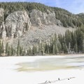View of the frozen Nambe Lake. - Six Must Do Hikes Around Santa Fe + Taos