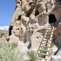 Hikers can climb into the cliff dwellings in Bandelier.- Exploring the Puebloan Ruins and Rock Art of Northern New Mexico