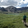 View heading toward the first lake on the Flower Springs hike.- Northern Rockies Adventures Not to Miss in Canada