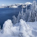 Beautiful winter views.- Winter Adventures in Crater Lake National Park