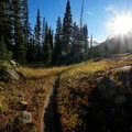 Open meadow during the ascent to Gore Lake. - 30 Spectacular Fall Adventures in Colorado