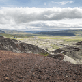 Looking over Norðurárdular from the crater.- 14 Must-Do Activities In Iceland