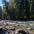 The White River near the Grasshopper Meadows Campground.- Great Camping Near the Enchantments