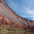 A canyon wall sculpted by the Green River.- The Colorado River Ecosystem