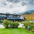 The Great Glen Trails base lodge has bike rentals and a cafe.- Incredible Adventures in New Hampshire's White Mountain National Forest