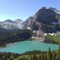 Grinnell Lake with Mount Gould.- Glacier National Park